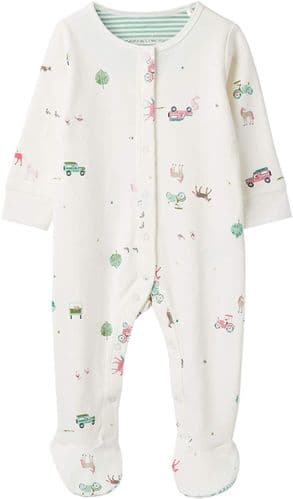 JOULES Baby Grow Girl Razmataz Farmyard