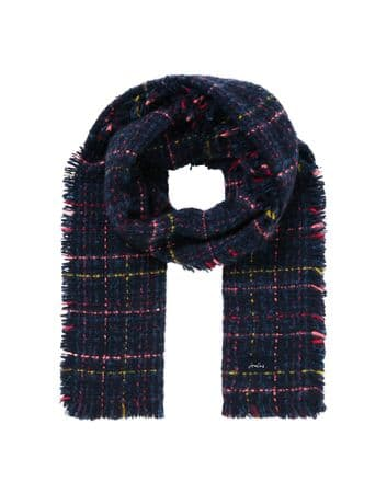 JOULES Karrie Boucle Check Scarf