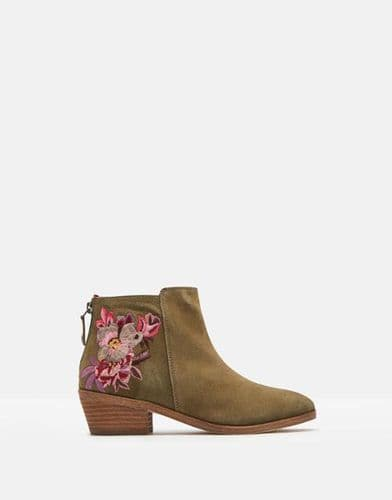 JOULES Langham Embroidery Ankle Boot
