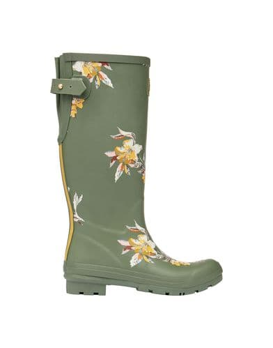 JOULES Printed Welly With Adjustable