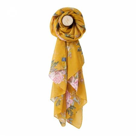 JOULES Wensley Gold Lightweight Scarf