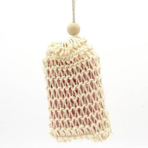 Biodegradable Drawstring Sisal Soap Bag