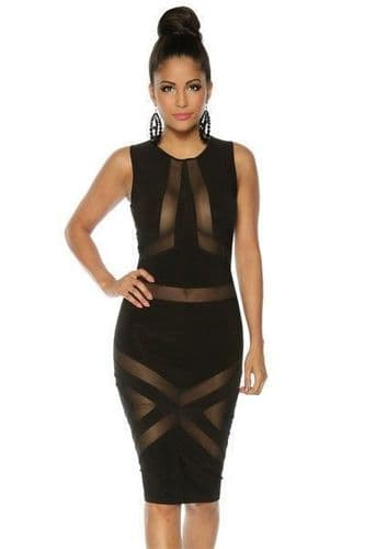 Black and Tulle Party Dress (UK 14)