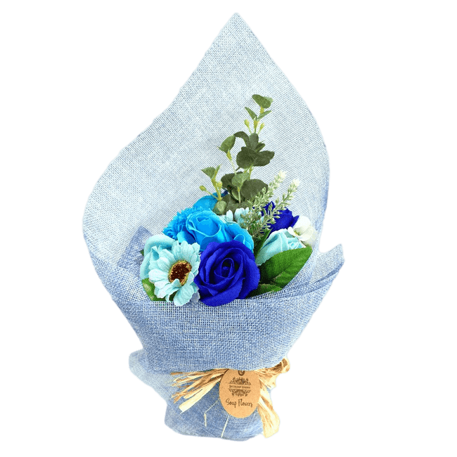 Blue Soap Flower Standing Bouquet | Valentines | Mothers Day | Bonnebombe | Deal