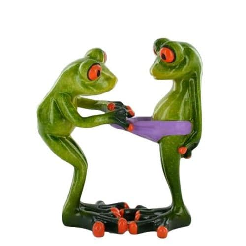 Cheeky Comical Frog Figurine Pulling Wedgie Pants