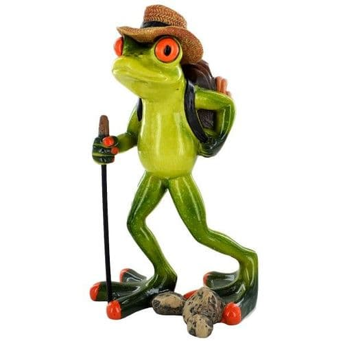 Cheeky Comical Frog Hiker