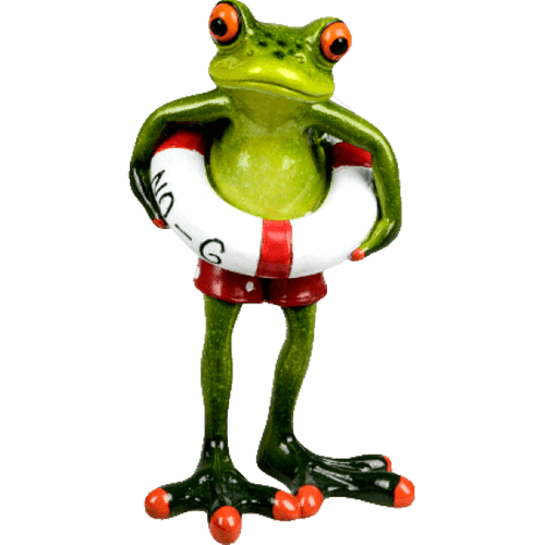 Cheeky Comical Frog Rubber Ring - Red Shorts