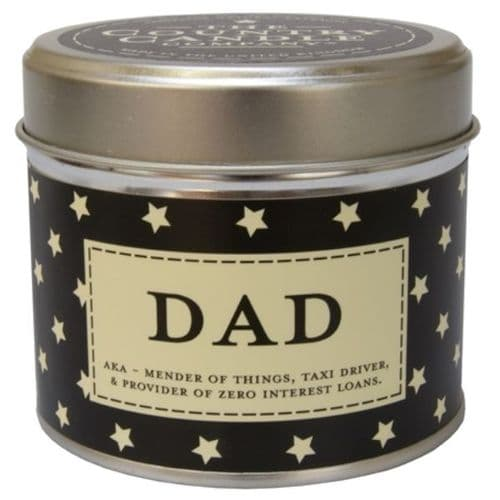 Dad - AKA Mender Of Things Candle In A Tin