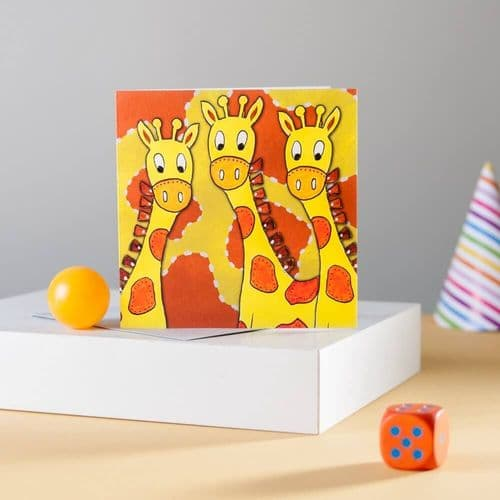 Giraffes Greeting Card by Claire Louise