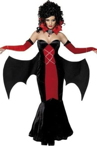 Gothic Manor Vampire Fancy Dress Costume (UK 16-18)