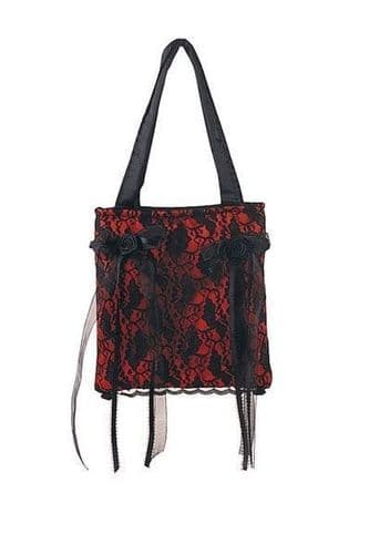 Gothic Red Satin Lolita Bag Or Purse