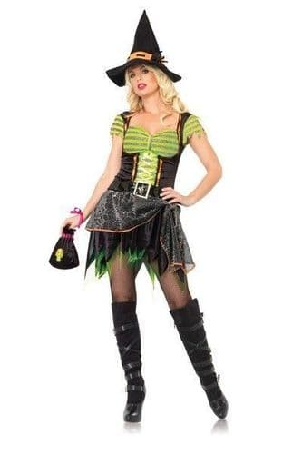 Halloween Spider Witch Fancy Dress Costume (UK 10 - 12)