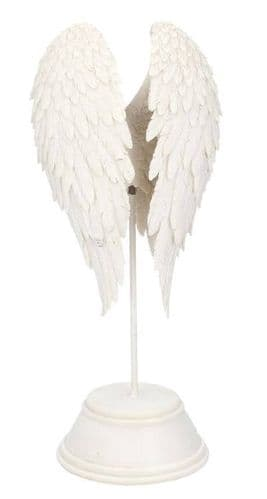 Heavenly White Angel Wings Sculpture