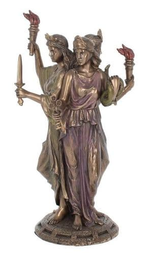 Hecate Goddess of Magic Cold Cast Bronze Sculpture