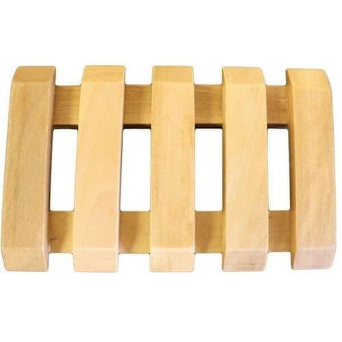 Hemu Wood Slotted Soap Dish