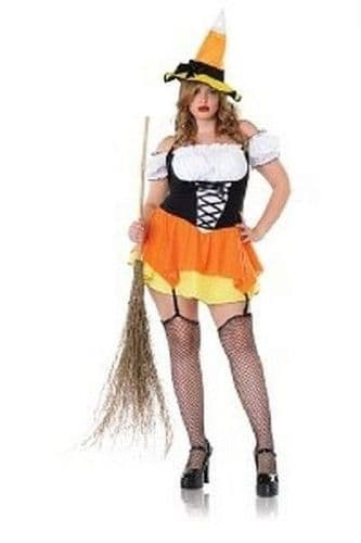 Kandy Korn Witch Halloween Fancy Dress Costume (UK 16-18)