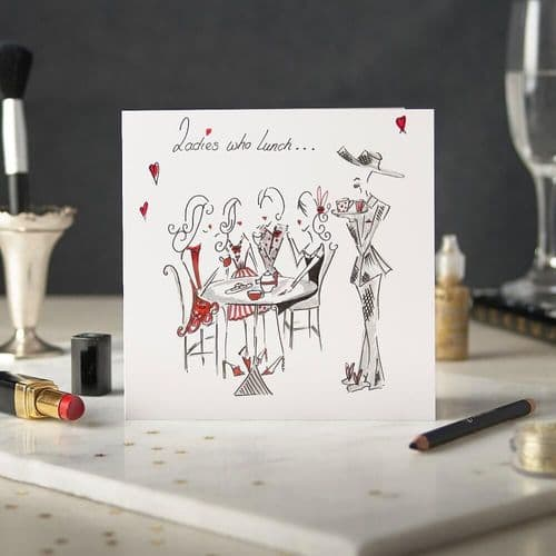 Ladies Who Lunch Greeting Card by Claire Louise
