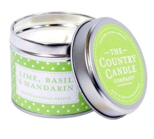 Lime Basil And Mandarin - Mediterranean Breeze Candle In a Tin