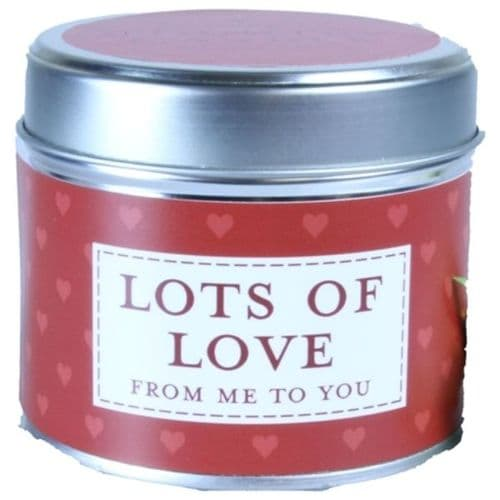 Lots Of Love - From Me To You Candle In A Tin