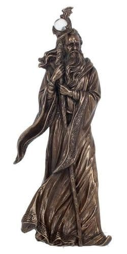 Merlin Cold Cast Bronze Sculpture