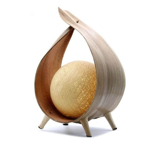 Natural Coconut Leaf Lamp - Natural Loop