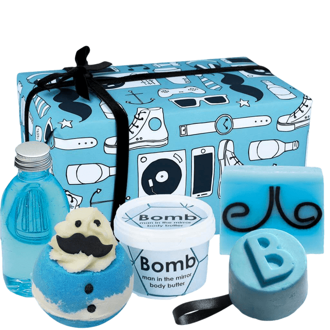 New Age Hipster Bath Time Gift Box For Him Fathers Day Gifts Deal Kent | Bonnebombe | Bomb Cosmetics