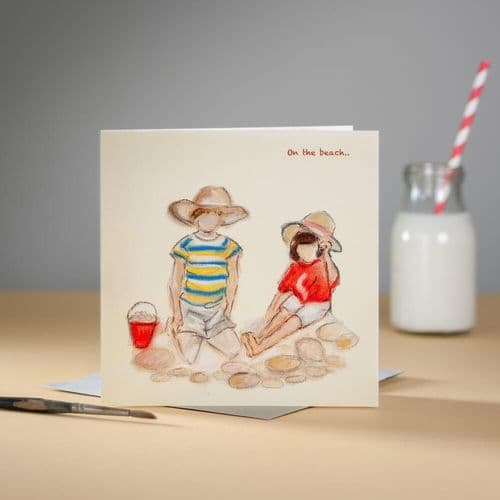 On the Beach Greeting Card by Claire Louise