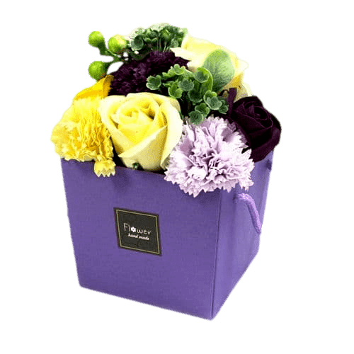 Purple Flower Garden Soap Flower Bouquet