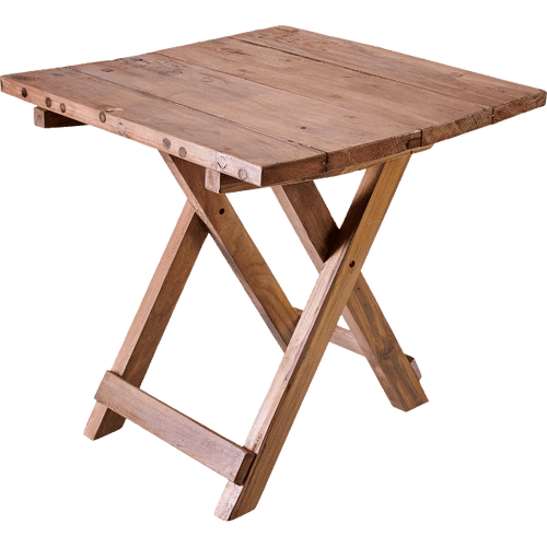 Recycled Wood 50cm Folding Coffee Table