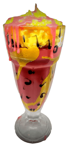 Retro Fruit Salad Milkshake Soy Wax Candle