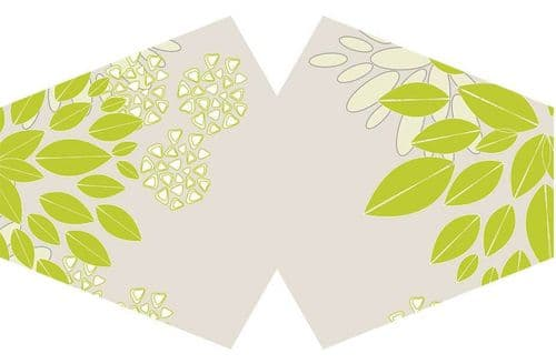 Reusable Adult Face Mask - Green Leaves