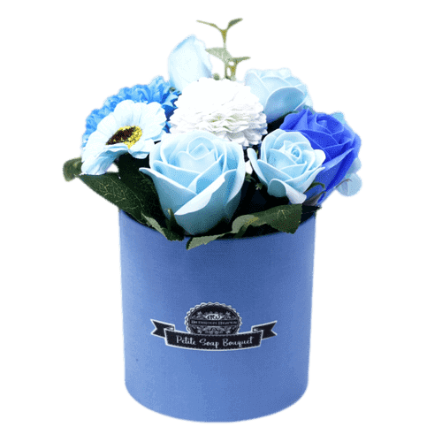 Soothing Blue Soap Bouquet Petite Gift Pot | Mothers Day Gifts | Bonnebombe Deal