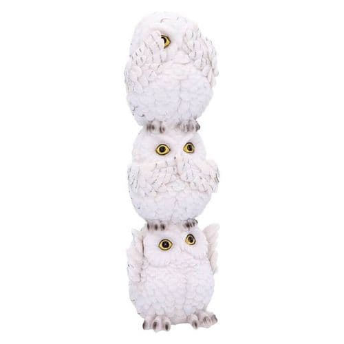 Three Wise Owls Wisest Totem Ornament