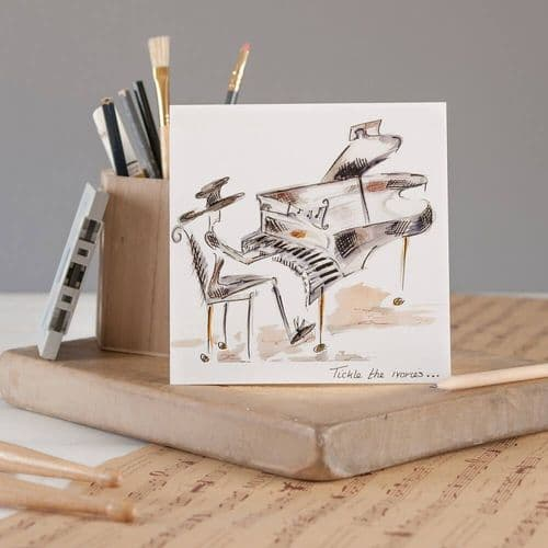 Tickle The Ivories Greeting Card by Claire Louise