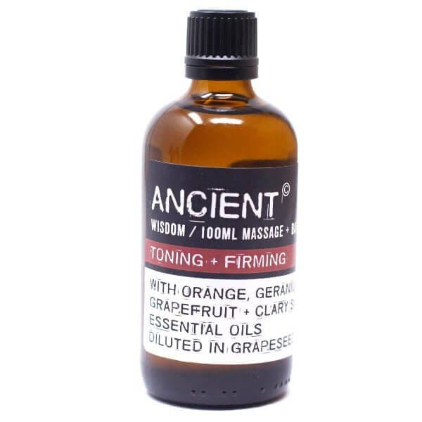 Toning Firming Essential Oil And Grapeseed Massage And Bath Oil