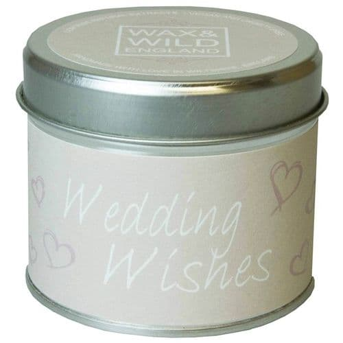 Wedding Wishes - Candle In A Tin