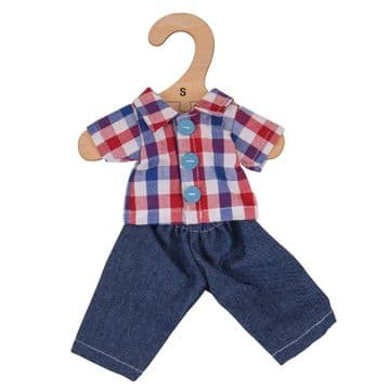 Bigjigs Small Dolls Outfit Checked Shirt and Jeans