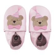 Bobux Soft Sole Shoes Party Bear Blossom Pearl