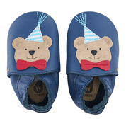 Bobux Soft Sole Shoes Party Bear Navy
