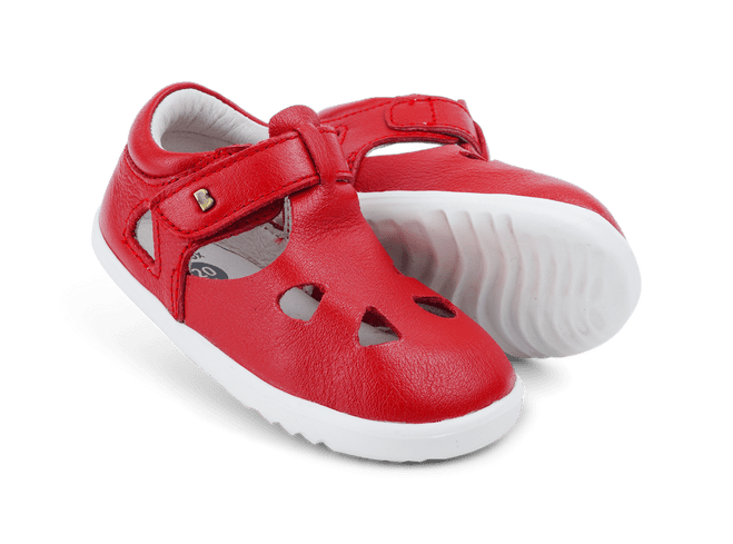 Bobux Step Up Zap Red Closed Toe Sandals
