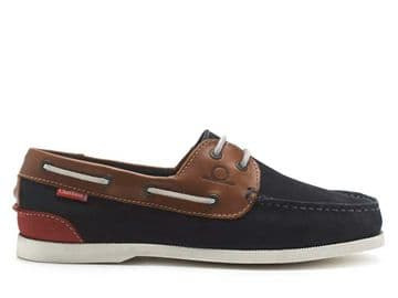 Chatham Galley 11 - Navy/ tan Deck shoe
