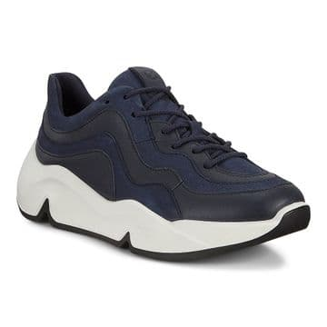 Ecco 203103 - Navy -  Chunky lace up sneaker.