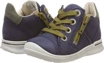 Ecco First Trainer Night Sky Lace Up With Side Zip Fastening