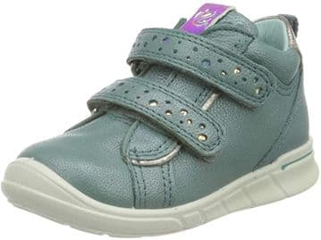 Ecco Girls First Trainer Boot Velcro Fastening Blue Leather