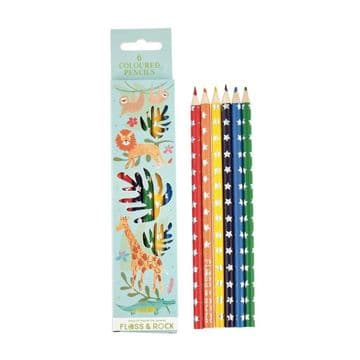 Floss and Rock - Jungle Pack Of 6 Pencils 38P3392