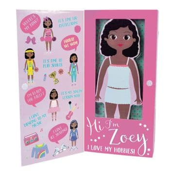 Floss And Rock Magnetic Dress Up Doll Zoey 42P6310