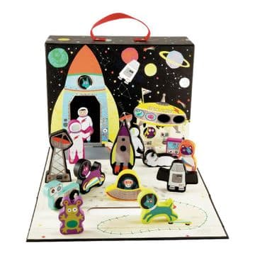 Floss And Rock Play Bow With Wooden Pieces Space 41P3659