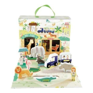 Floss And Rock Play Box With Wooden Pieces Jungle 41P3658