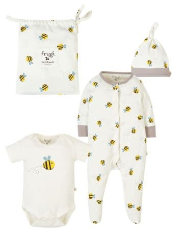 Frugi Buzzy  Bee Baby Gift Set Organic Cotton  GSS001BZE