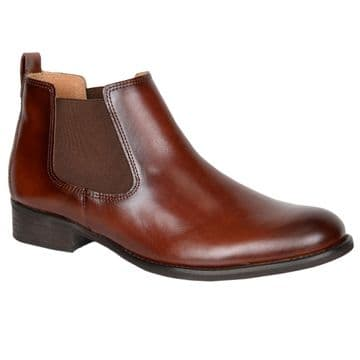 Gabor Abbelley - Brown Leather-Chelsea Ankle Boot